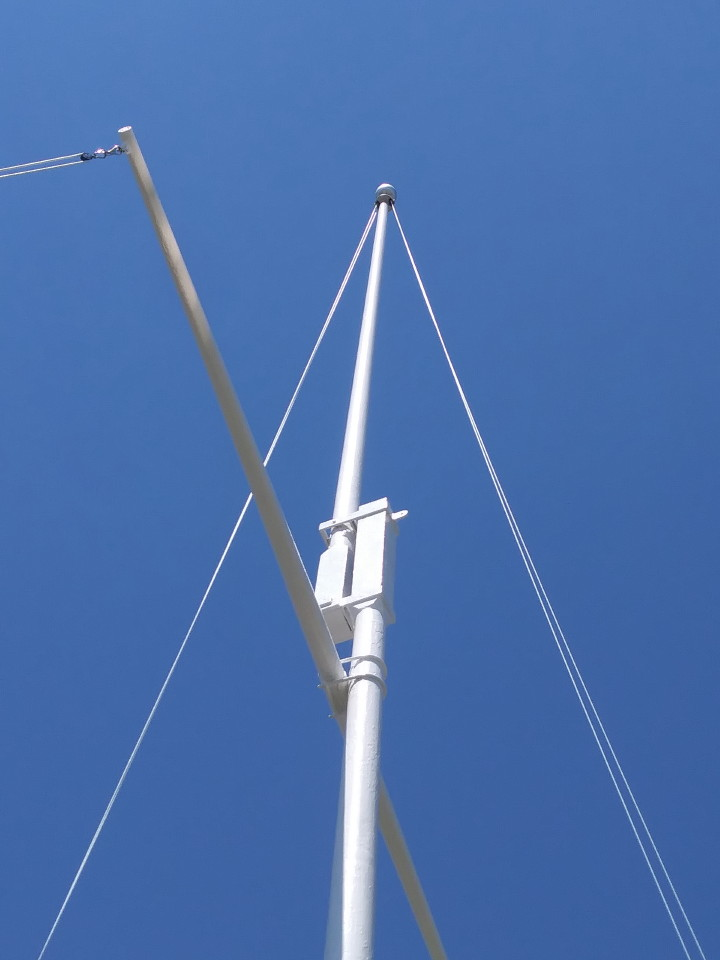 After photo of a repainted 60 foot flagpole