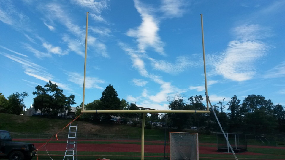 Before repainting field goal posts