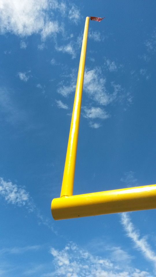Field goal upright after painting by Mr. Flagpole Maintenance